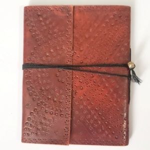 NEW Leather Bound Journal Book Floral Paper